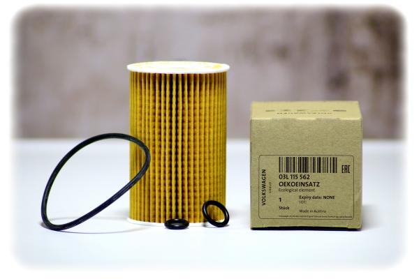 Original VW / Audi Filtereinsatz mit Dichtung - Ölfilter - 03L 115 562
