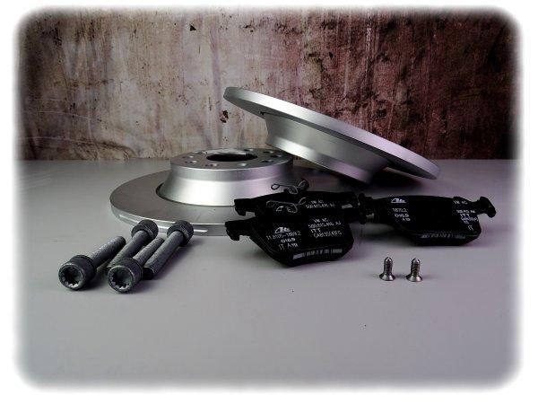 [PAKET] - Original Volkswagen Golf Bremsscheiben + Bremsbelag-Satz hinten inklu. Schrauben - Ersat