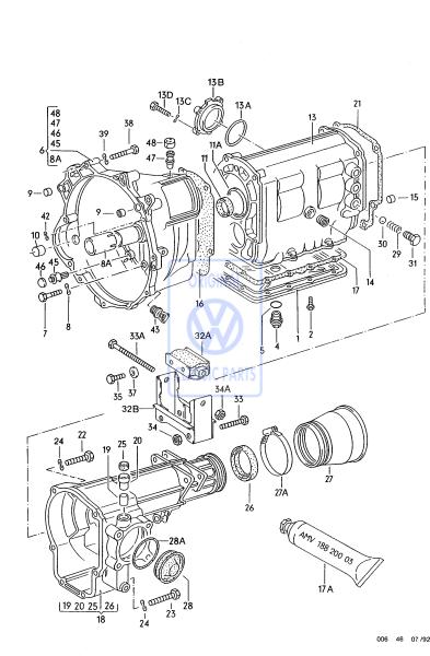 VW Classic Parts - Dichtung - 008 301 131 A
