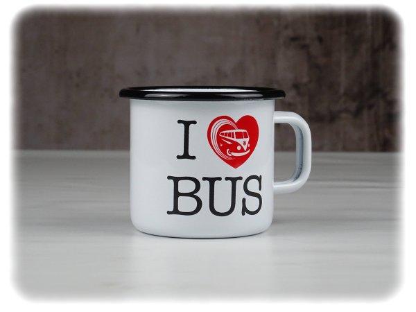 "Original Volkswagen Emaillebecher ""I ♥ Bus"" - Accessoires - 7E0069601"