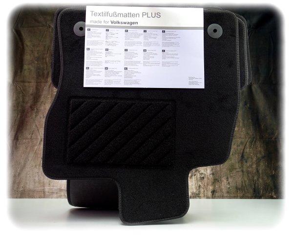 """Originaler Volkswagen Golf Fußmatten-Satz """"Plus"""" vorne & hinten - Fußmatten - 5G1061404 WGK"""