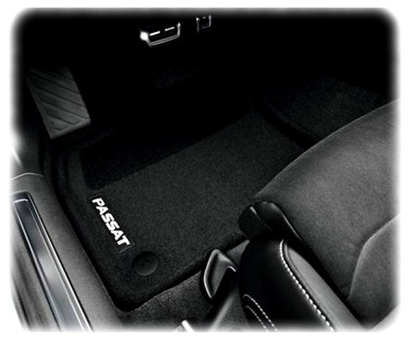 Original VW Passat 8 Fußmatten-Satz vorne & hinten - Textil-Fußmatten - 3G1061445 WGK
